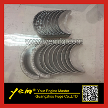 For Mitsubishi diesel engine parts S4Q S4Q2 Crankshaft bearings + con rod bearings