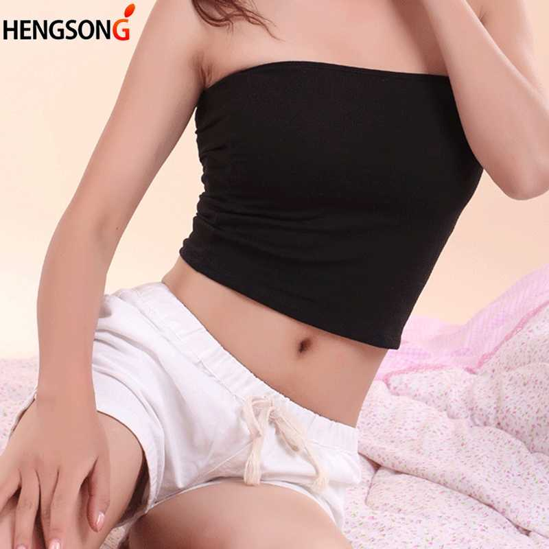 52ec433d36739e 2018 Sexy Breathable Movement Strapless Tube Top Black White Tube Top  Female Wrapped Chest Tops Women s