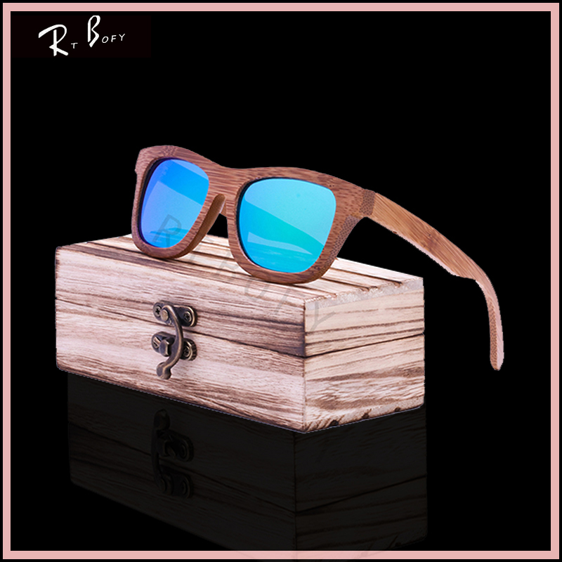 RTBOFY New fashion Products Men Women Glass Bamboo Sunglasses au Retro Vintage Wood Lens Wooden Frame Handmade And the Box. ZA03<br><br>Aliexpress