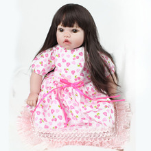 Kawaii Soft Silicone Reborn Dolls Baby Realistic Fake Babies 22 Inch 55cm Handmade Birthday Gift For Kids
