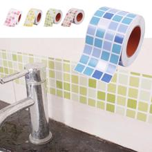 1M Waist line wall sticker kitchen waist line adhesive bathroom toilet waterproof adhesive PVC wallpaper Mosaic tiles stickers 3