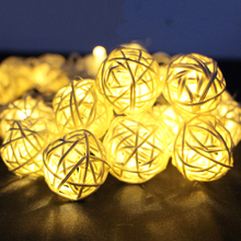 8 Modes 10M 38LED 7 Color Lantern Rattan Ball Fairy LED String Light For Holiday Christmas Wedding Party Curtain Decoration