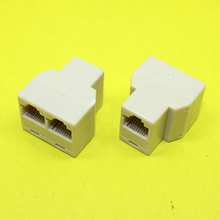 free Aliexpress Premium shopping(faster) 200pcs Cable network RJ45(8-core)one point two connectors extend the interface adapter