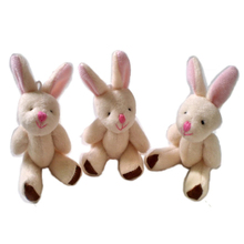 10PCS/lot Mini Joint Rabbit Plush toys Wedding gifts Kids Cartoon toys Christmas gifts Couple Gifts Wholesale Hot sales DDW09(China)
