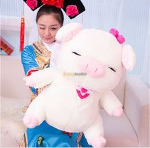 Kawaii  110cm Jumbo Giant Lovely Stuffed Soft Plush Cute McDull Pig Toy Big Fat Animal Pig Doll for Kids Free Shipping