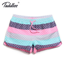 Taddlee Brand Women Board Shorts Beach Swimwear Swim Boxer Trunks Shorts Swimsuits Sports Running Shorts Trunks Quick Drying New