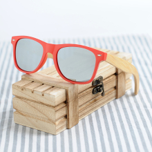 Buy BOBO BIRD Brand Red Frame Sunglasses Woman Polarized Bamboo Holder Sun Glasses Beach Fashion Coated Wood Box 2017 Oculos for $14.99 in AliExpress store
