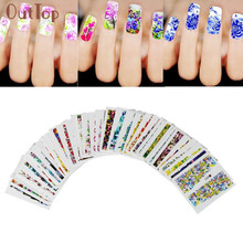 50Sheets Nail Art Transfer Stickers 3D Design Manicure Tips Decorations 2017 New Beauty Girl A35(China)