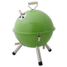 portable bbq round barbecue grill charcoal garden travel outdoor & camping