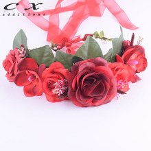 CXADDITIONS Elegant Women Wedding Hair Bands Accessories Bridal Floral Wreath Headband Gifts Party Decoration Flower Crown Girls(China)