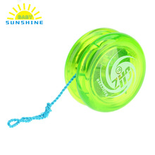 Hot Sale Yoyo Classic Kids Toys Plastic Magic Yoyo D1 Loop Yo-yo Narrow Plain Shaft Star Burst System with Spinning String(China)