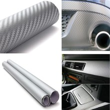 Buy Car-styling 127cm x30cm 3D Carbon Fiber Vinyl Wrap Film Motorcycle Car Vehicle Stickers Decals Sheet Roll Car Accessories for $30.80 in AliExpress store
