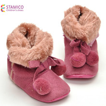 New Born Girls Shoes Warm Winter Warm Baby Boots Toddler Infantil Shoes Winter Soft Sole Booties Prewalker Bebe Warming Boots