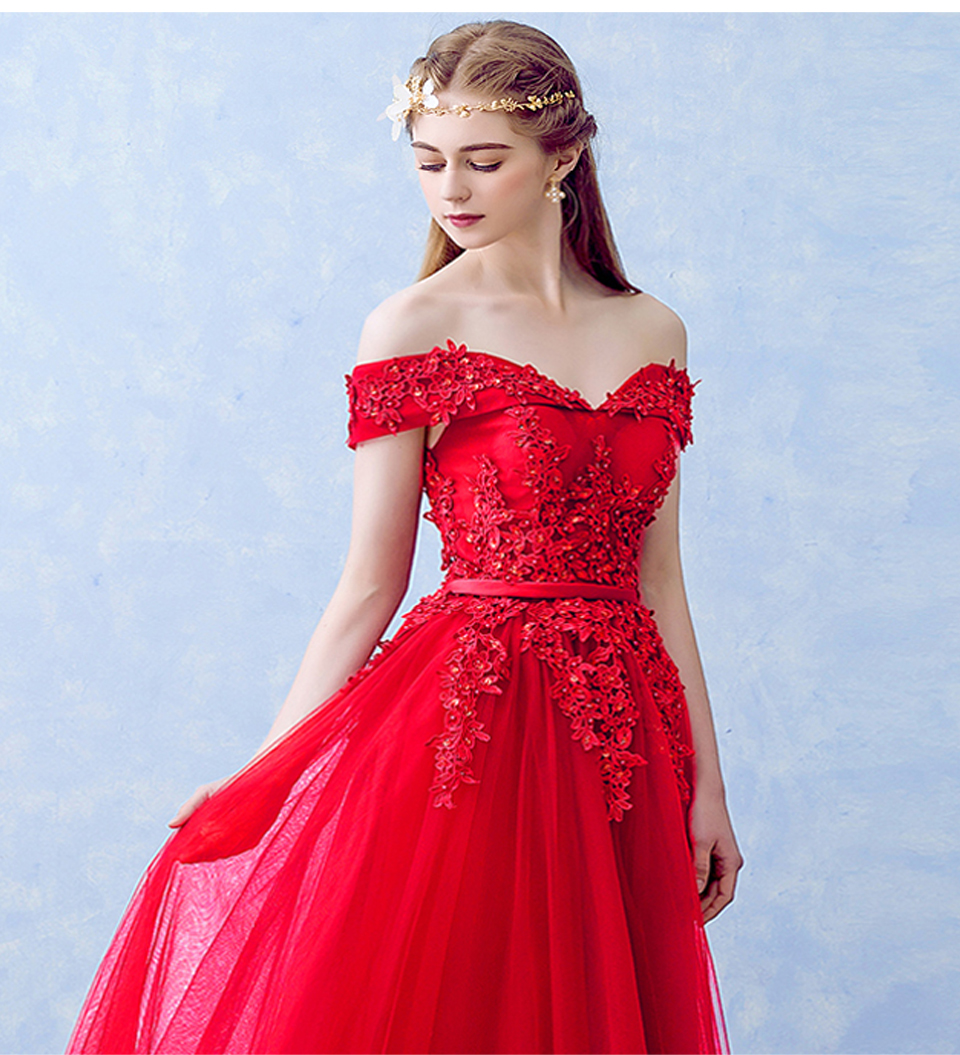 Lamya 2018 New Women Prom Long Evening Dresses Elegant Lace Boat Neck Banquet Formal Party Gowns vestido de festa longo 14
