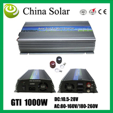 Solar Grid Tie Inverter 10.5-28VDC ,80-160VAC/180-260VAC,Output 1000W inverter for PV system.(China)
