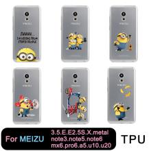 TPU Clear For Meilan MX6 pro6 u10 u20 E2 m3 M5 M5s metal note3 Cute Me Minion yellow Free shipping(China)