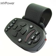 MVpower Universal Steering Wheel Remote Control for Car Audio Video DVD MP4 16 keys common remote control car functions black