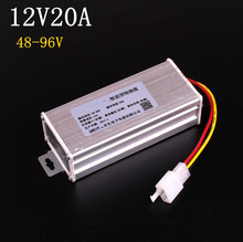 Electric Converter Adapter to Voltage Transformer DC 96V 72V 64V 60V 48V TO 12V 20A Current Transformer