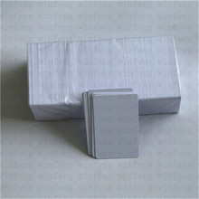 5pcs/lot low cost CR80 size waterproof white 13.56mhz rfid ntag215 chip smart blank card epson l1800 inkjet pvc card
