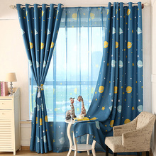 New Arrival Cartoon Children Curtain Living Room Windows Bedroom Products Customized Green Shade Cloth Kids Curtains