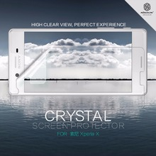 2 pcs/lot screen protector For Sony Xperia X NILLKIN Crystal Super clear protective film with retailed package