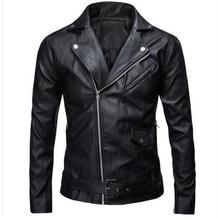 Buy Brand New Mens Slim Leather Jacket Male Large Size Casual Motorcycle Jacket Black/White Spring Autumn Coats Jackets J1108 for $26.10 in AliExpress store