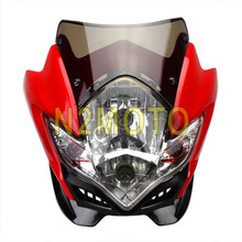 Red Streetfighter Motorcycle Headlight For GSXR BANDIT SV 1000S SV650S Fairing Street Fighter Stunt Headlight Smoke Fairing(China)