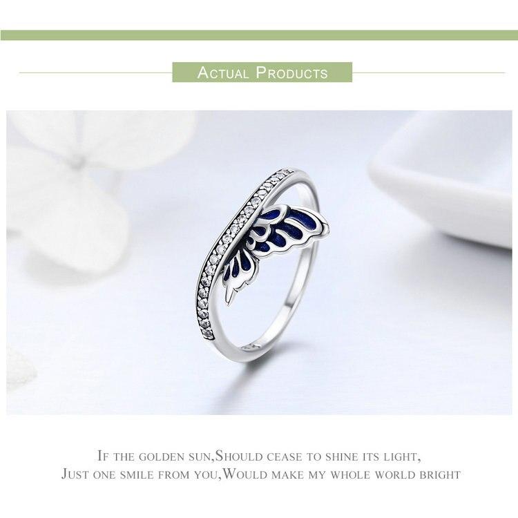 خاتم جناح الفراشة للسيدات فضة S925 5
