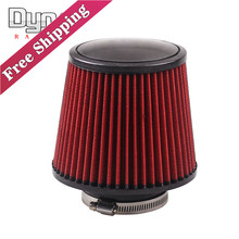 Free shipping  Universal 76mm and 160 mm height  Cold Air Intake Air Filter AF001-76MM