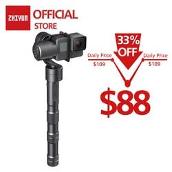 ZHIYUN Evolution 3-Axis спортивные ручной шарнирный стабилизатор для камеры Gopro для экшн-Камеры Gopro Hero/Yi 4 K/eken/SJCAM/Xiaomi пульт дистанционного управления д...