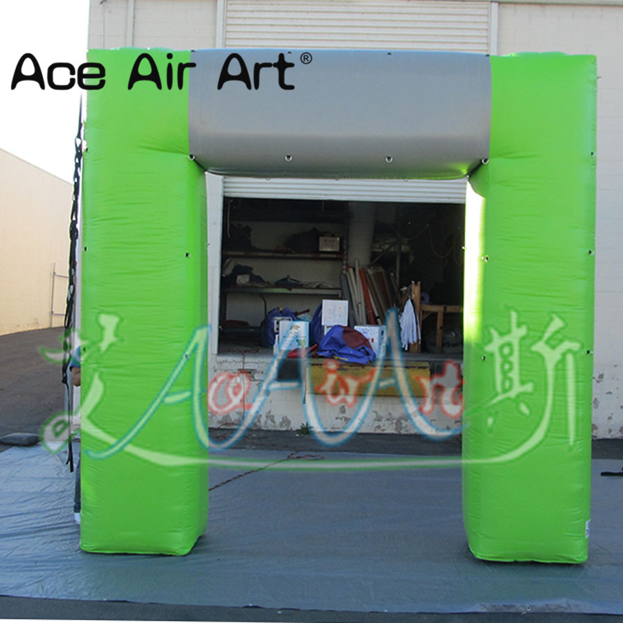 Hot sale green inflatable square arch/archway,concise design truss arch Bicycle race