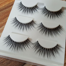 HBZGTLAD Sexy 100% Handmade 3D mink hair Beauty Thick Long False Mink Eyelashes Fake Eye Lashes Eyelash(China)