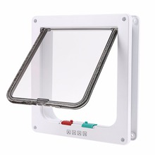 4 Ways Lockable Cat Pet Door ABS Plastic Safe Cat Flap Suitable For Any Walls Pet Door For Large Cats And Small Dogs