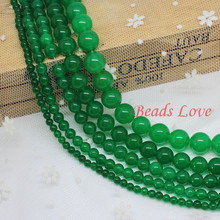 "Dark Green Stone Beads Natural Round Beads For Jewelry Making AAA+ 15.5""/strand 4,6,8,10,12mm Pick Size(F00018)"