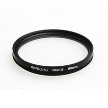 58MM 8 Point Star Filter  for Canon EF 18-55mm 50mm 85mm Camera Lens free shipping
