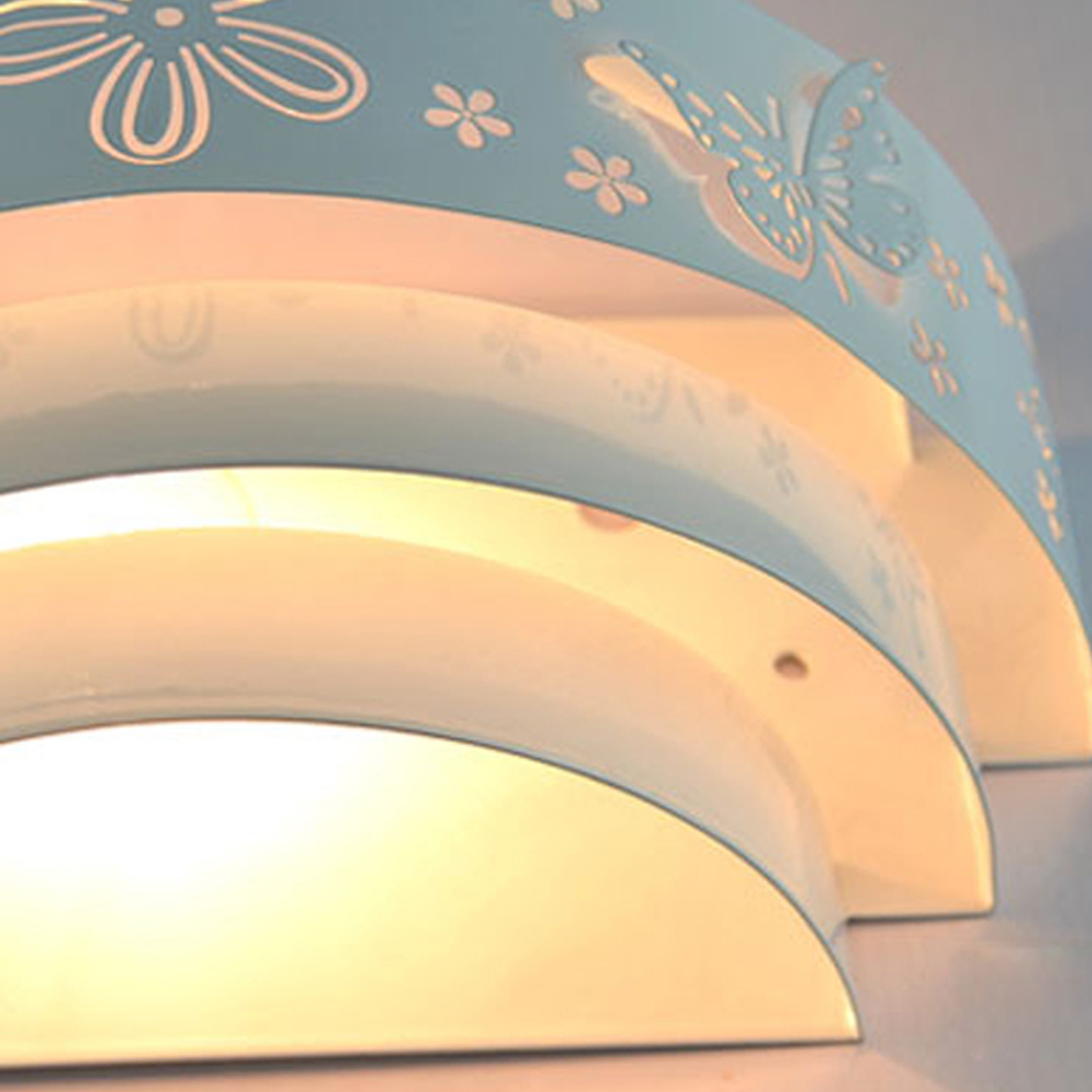 Modern minimalist carved Iron craft lampshade wall lamp e27 fashion sconce Bedroom bedside lamp LED light aisle staircase lamp <br>