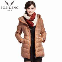 BOSIDENG winter jacket women's clothing 90% duck down coat zipper hooded art print character clearance candy color B1301100(China)