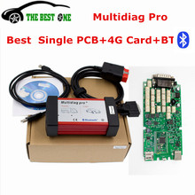 Powerful Scanner Multidiag PRO Single Board Green PCB+4G TF Card+ Bluetooth TCS CDP PRO 2014.R2 Keygen Multi-Diag Free Shipping(China)