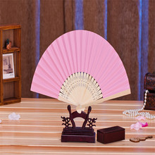 11pcs Newest Hot Sale Event Party Supplies Portable Foldable Paper Hand pink Paper Fan Wedding Decoration