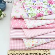 Молодая девушка Marca дракон хлопок ткань розовый цветок ткань DIY Лоскутная Вышивание ремесла 8 шт. Тильда куклы ткань 4050 см(China)