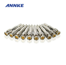 10 Pcs/ Lot CCTV System Solder Less Twist Spring BNC Connector Jack for Coaxial RG59 Camera for Surveillance Accessories(China)