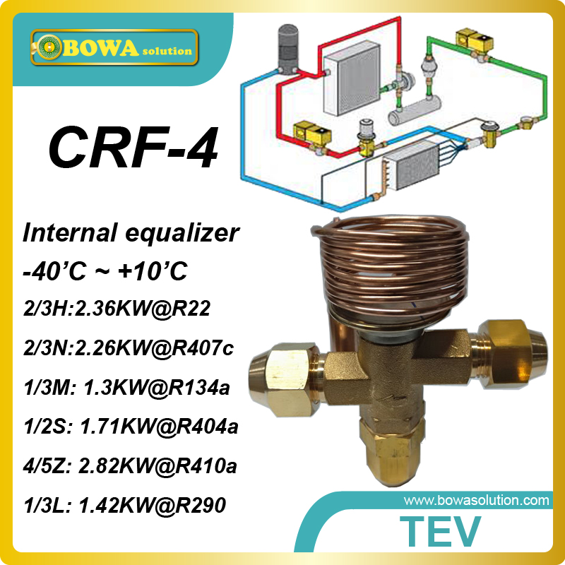 CRF-4 R404a 1.71KW cooling capacity  thermostatic expansion valve with SAE flare connection working for  cold room equipments<br><br>Aliexpress