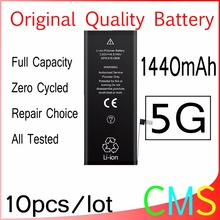 10pcs/lot Original Quality 0 zero cycle Battery for iPhone 5 5G 1440mAh 3.7V Replacement Repair Parts For Sony Core