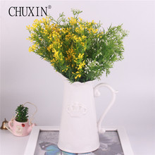 Artificial flowers silk fruit flowers decoration party fake aquatic plant decoration for home hotel office garden embellishment(China)