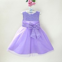 Big Discount!Fashion Flower Children Girl  Dresses Sequin Big Bow Sundress Pageant Wedding Party Clothes