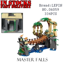 Lepin 06059 334pcs Ninja Movie Series Master Falls anime action figures Building kits Blocks Bricks Toys for children Gift 70608(China)