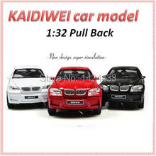 2017 Kaidiwei 1:32 X6 Simulation Diecast Alloy Metal Mini Model Pull Back Automobiles Machine Model Kid boy Toys Gift Collection