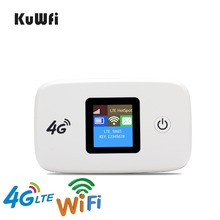KuWFi Unlocked Travel Partner 100Mbps LTE Mobile WiFi Hotspot 4G Wireless Router with SIM card Slot work with B1/B3 Network(China)