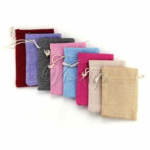 50pcs Vintage Natural Burlap Hessia Gift Candy Bags Wedding Party Favor Gift Pouch Jute Gift Bags 9cm*13cm Supply