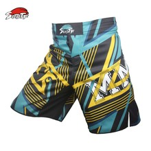 SUOTF MMA breathable cotton loose boxing movement training kickboxing Shorts Size muay thai boxing mma fight shorts pretorian